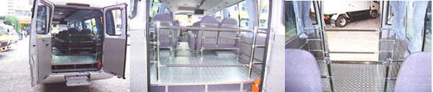 架装事例:29人乗りマイクロバス架装(定員21人)